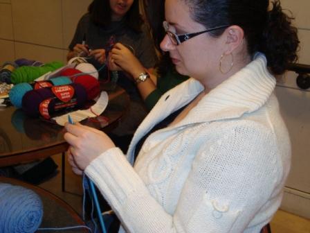 Olga Knitting