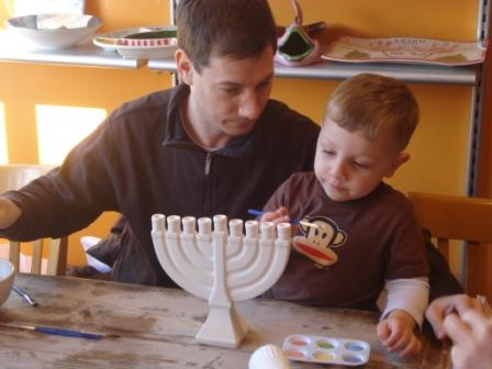 Painting our menorah