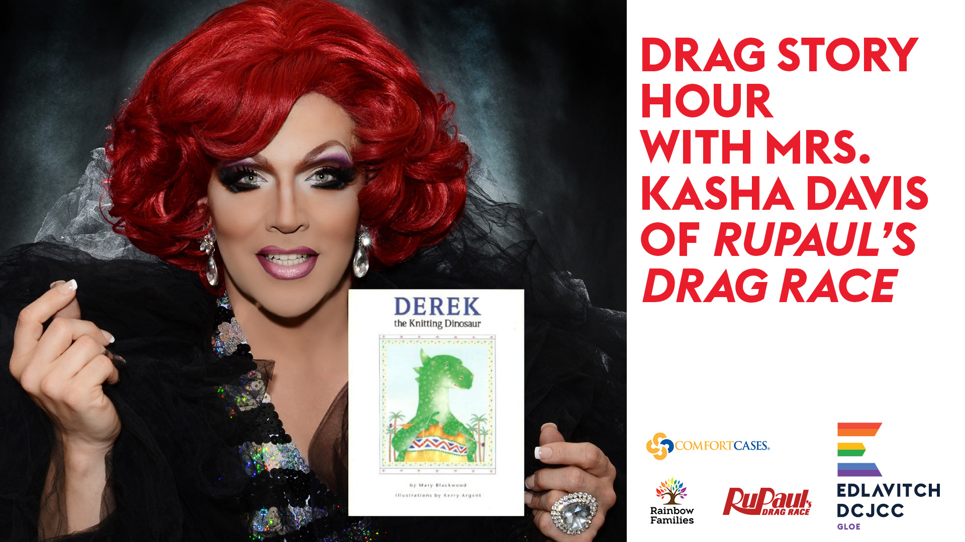 Drag Story Hour with Mrs. Kasha Davis of RuPaul's Drag Race