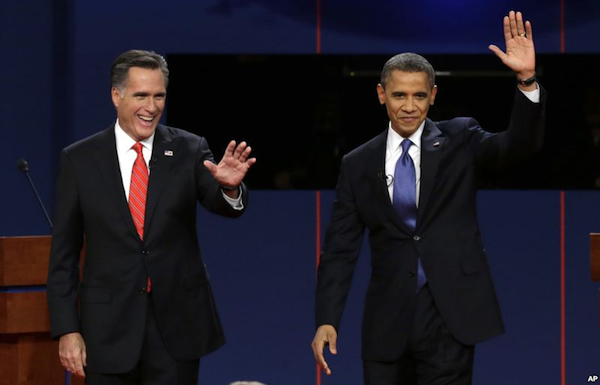 Obama and Romney (c) AP